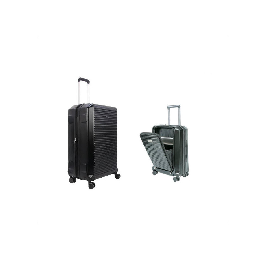 סט 2 מזוודות טרולי עסקי Swiss Black