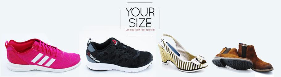 עד 40% הנחה על נעליים ב-YourSize משלוח חינם