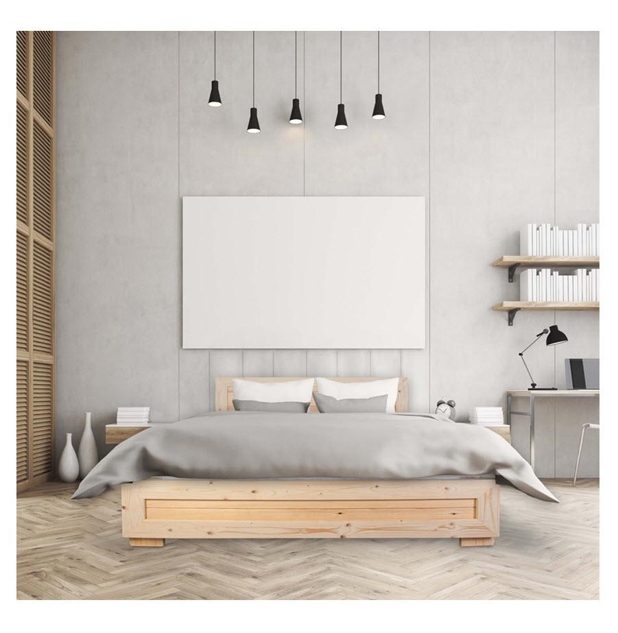 מיטה זוגית מעץ מלא Olympia