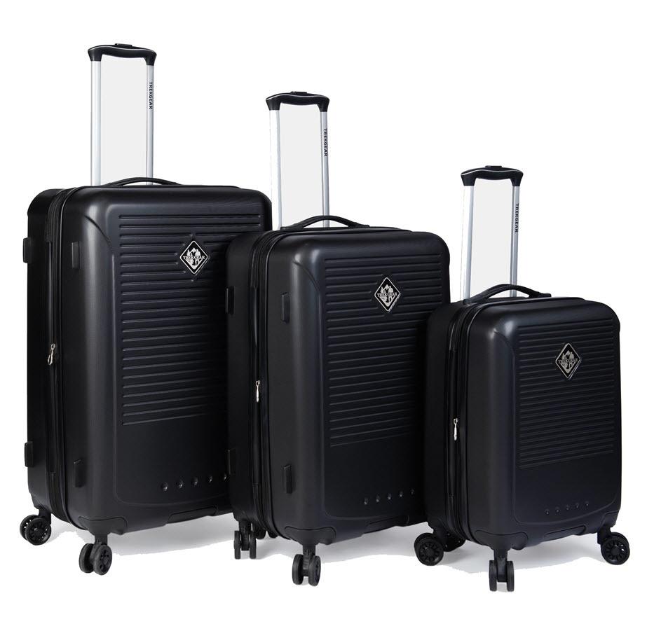 סט 3 מזוודות קשיחות מבית TREKGEAR
