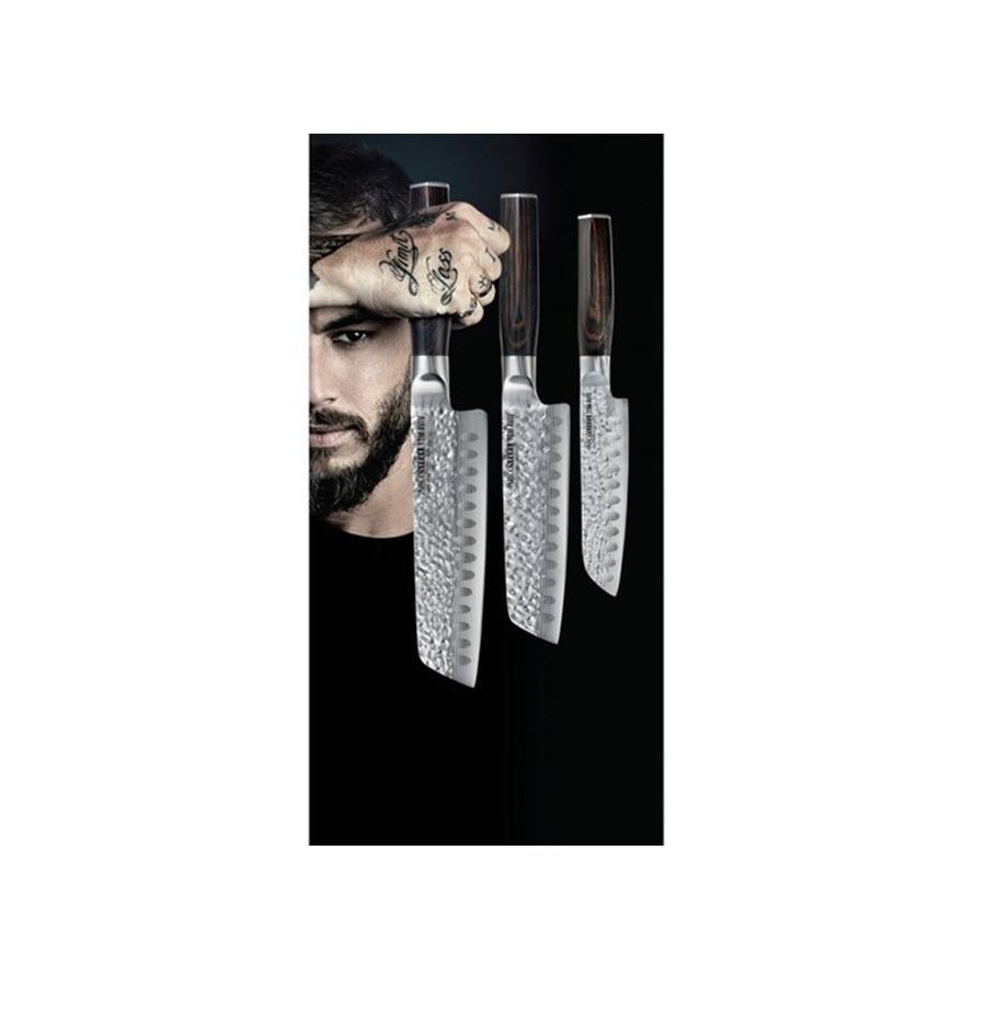 סט 3 סכיני סנטוקו סדרת טום אביב מבית ARCOSTEEL ארקוסטיל