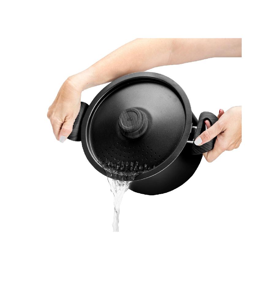 סיר פסטה עם מכסה מסננת 24 סמ 5 ליטר EVERYDAY PLUS מבית food appeal פוד אפיל